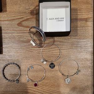 Alex and Ani Bundle- 5 bracelets!!